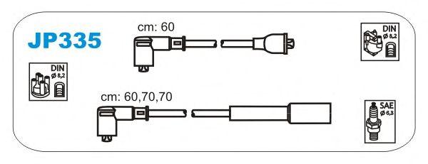 Комплект высоковольтных проводов JANMOR JP335