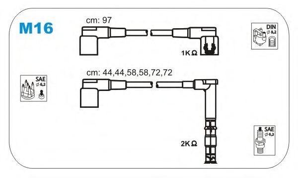 Комплект высоковольтных проводов JANMOR M16