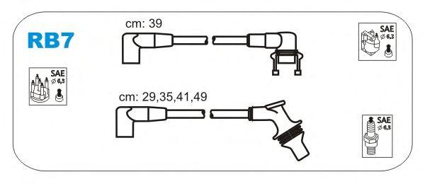 Комплект высоковольтных проводов JANMOR RB7