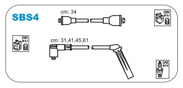 Комплект высоковольтных проводов JANMOR SBS4