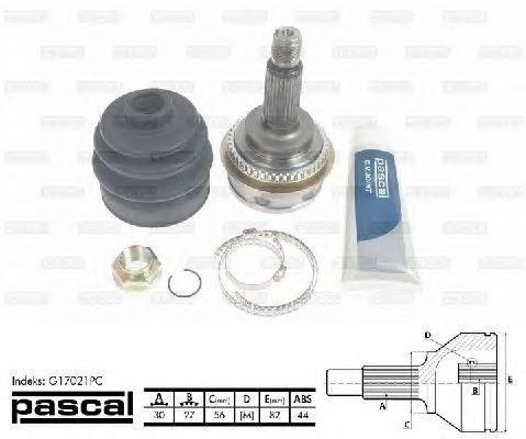 Комплект ШРУСов PASCAL G17021PC