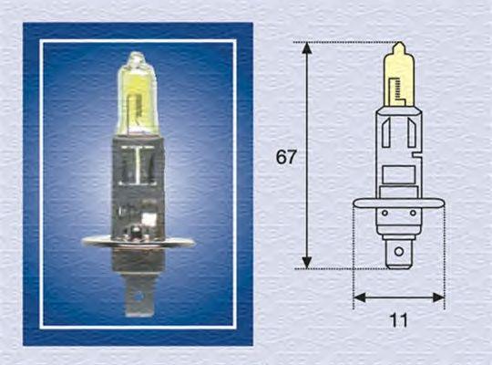 Лампа накаливания MAGNETI MARELLI 002571100000 (дальний свет, основная фара, противотуманная фара)