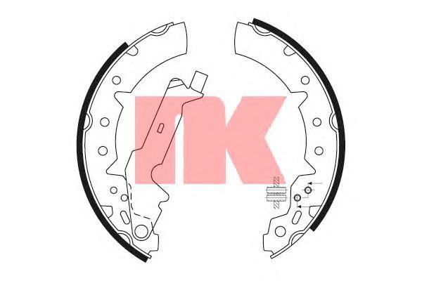 Тормозные колодки NK 2745654