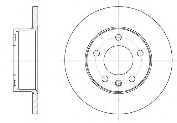 Тормозной диск REMSA 6201.00