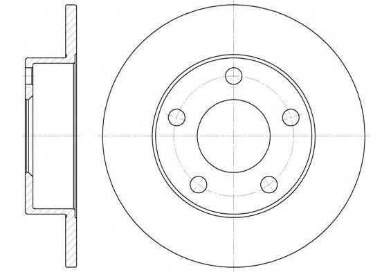 Тормозной диск REMSA 6513.00