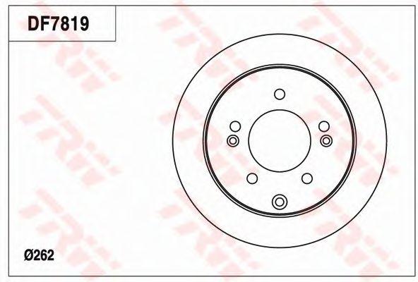 Тормозной диск TRW DF7819