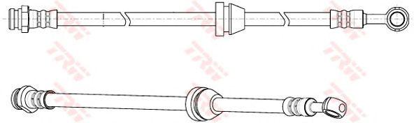 Тормозной шланг TRW PHD947