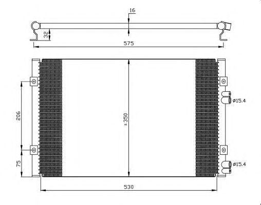 Радиатор кондиционера NRF 35384