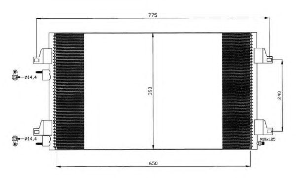 Радиатор кондиционера NRF 35447