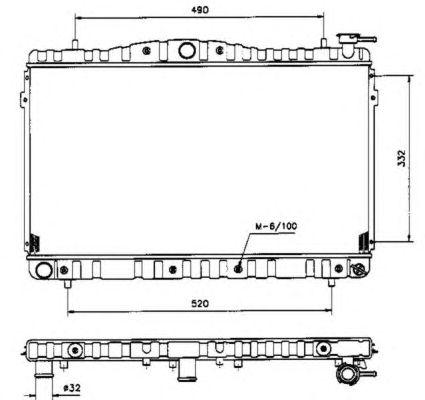 Радиатор, охлаждение двигателя NRF 53504