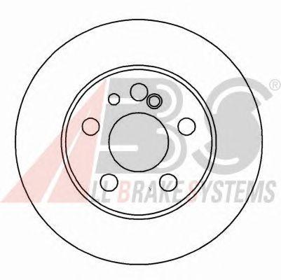 Тормозной диск A.B.S. 16111