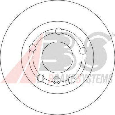 Тормозной диск A.B.S. 17106