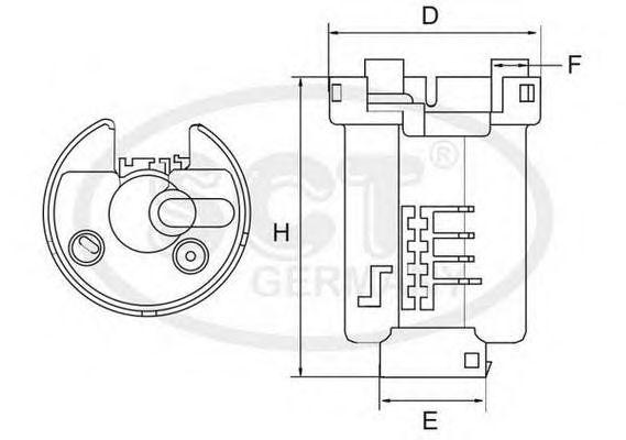 Топливный фильтр SCT Germany ST 6505