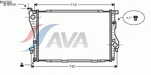 Радиатор, охлаждение двигателя AVA QUALITY COOLING BW2202