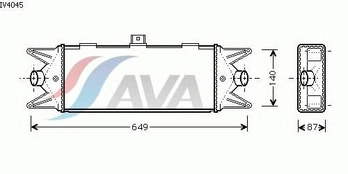 Интеркулер AVA QUALITY COOLING IV4045