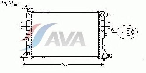 Радиатор, охлаждение двигателя AVA QUALITY COOLING OLA2293