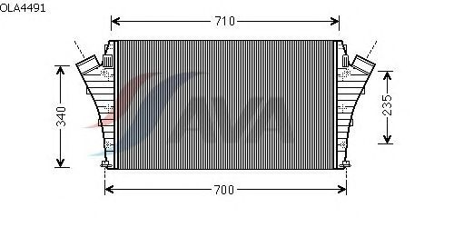 Интеркулер AVA QUALITY COOLING OLA4491