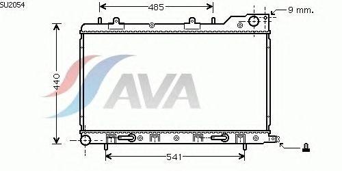 Радиатор, охлаждение двигателя AVA QUALITY COOLING SU2054
