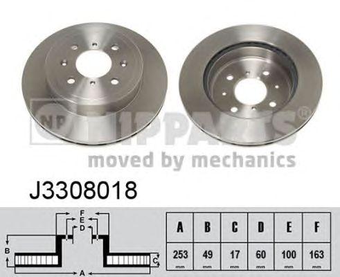 Тормозной диск NIPPARTS J3308018