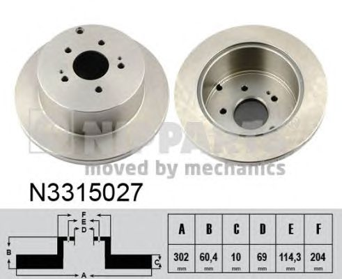 Тормозной диск NIPPARTS N3315027