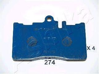 Тормозные колодки ASHIKA 50-02-274