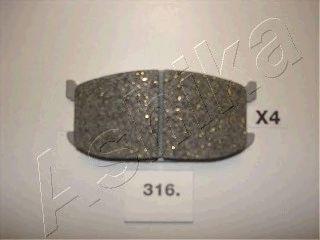 Тормозные колодки ASHIKA 50-03-316