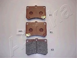 Тормозные колодки ASHIKA 50-03-342