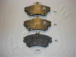 Тормозные колодки ASHIKA 50-05-516