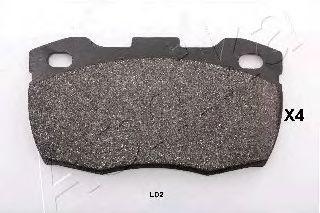 Тормозные колодки ASHIKA 50-0L-L02