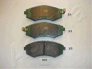 Тормозные колодки ASHIKA 50-0S-S02