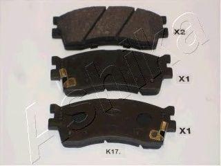 Тормозные колодки ASHIKA 50-K0-017