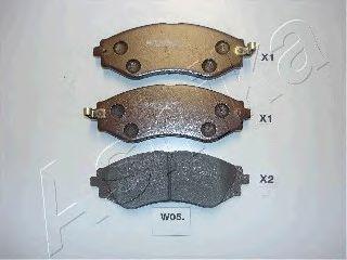 Тормозные колодки ASHIKA 50-W0-005