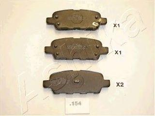 Тормозные колодки ASHIKA 51-01-154