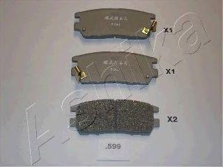 Тормозные колодки ASHIKA 51-05-599