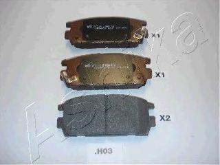 Тормозные колодки ASHIKA 51-0H-H03