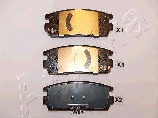 Тормозные колодки ASHIKA 51-0W-W04