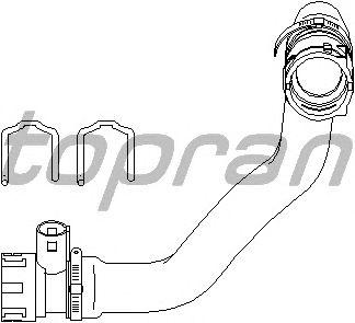 Шланг радиатора TOPRAN 501 564