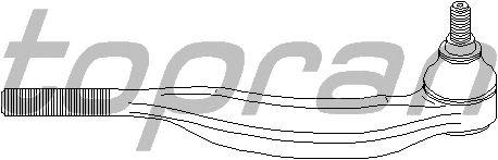 Наконечник рулевой тяги TOPRAN 722 240