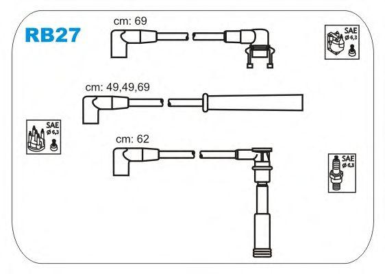 Комплект высоковольтных проводов JANMOR RB27