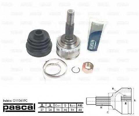 Комплект ШРУСов PASCAL G11061PC