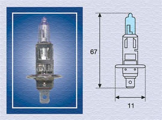 Лампа накаливания MAGNETI MARELLI 002601100000 (дальний свет, основная фара, противотуманная фара)