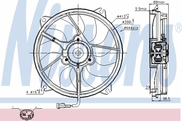 Вентилятор охлаждения NISSENS 85606