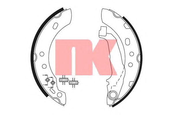 Тормозные колодки NK 2722543
