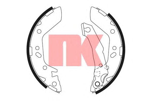 Тормозные колодки NK 2734670
