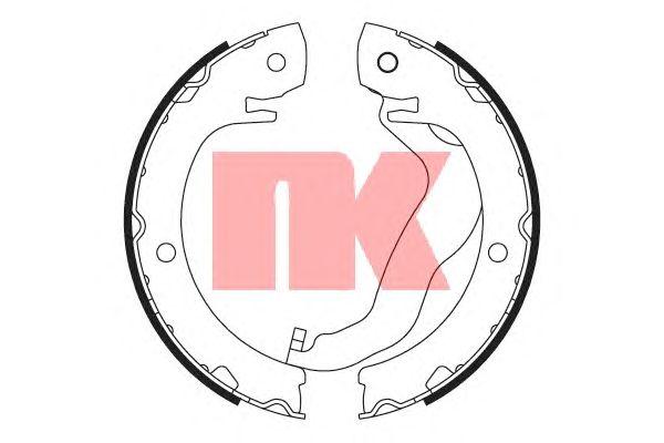 Тормозные колодки ручника NK 2745809