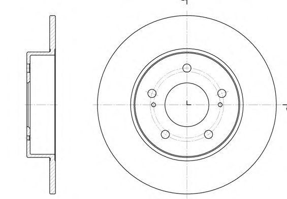 Тормозной диск REMSA 6909.00