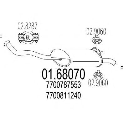 Глушитель MTS 01.68070