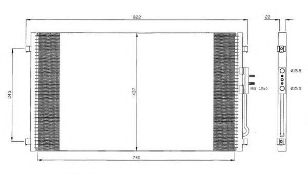 Радиатор кондиционера NRF 35383