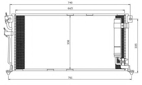 Радиатор кондиционера NRF 35541