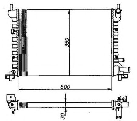Радиатор, охлаждение двигателя NRF 50130